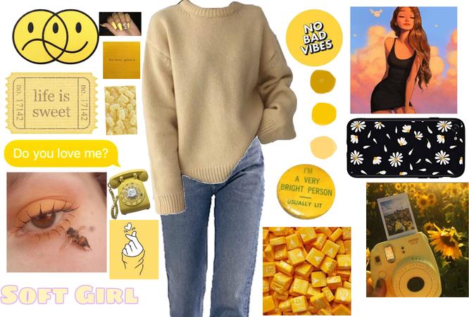 yellow soft girl aesthetic for @xoxdesignerxox