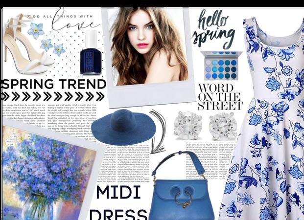 spring trend: midi dress