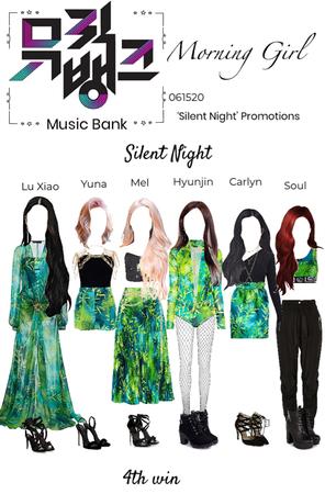 Music Bank- silent night 4th win