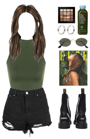 green and black look