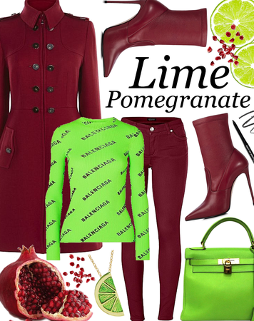 SUMMER 2020: Lime Pomegranate Style