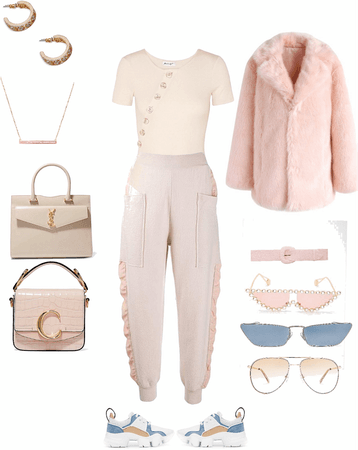 cute , soft fall outfit 🧸🍂☕️