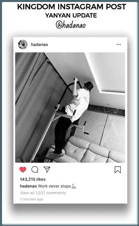 {KINGDOM} [Yanan] Official Instagram Post