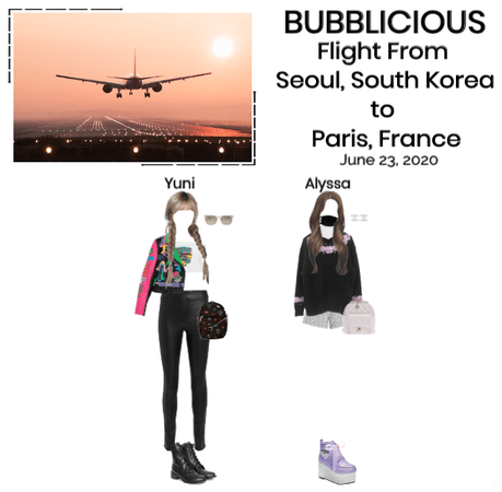 BUBBLICIOUS (신기한) Flight From Seoul To Paris