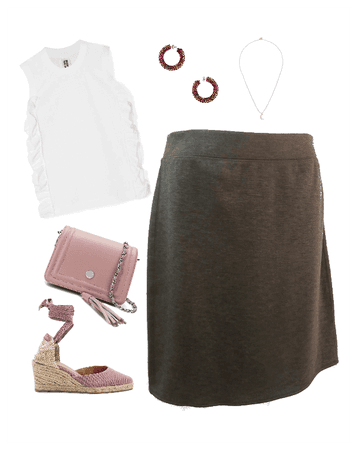 GEORGE GRAY JERSEY SKIRT