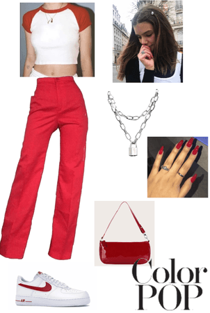 Red Monochrome Outfit