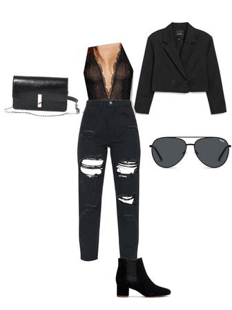 fancy/cute black lace outfit