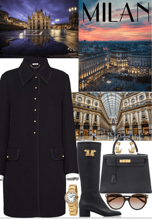 A winter look for a business woman in Milan