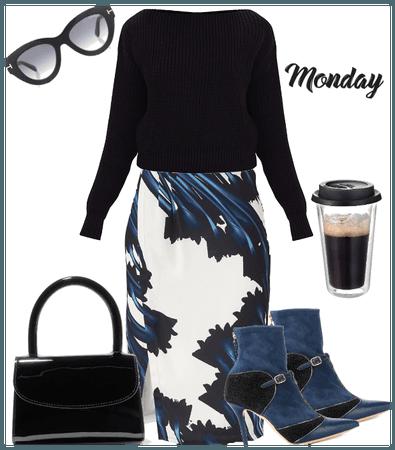 Weekly work mode wardrobe. Batch 1 Monday
