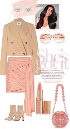 peachy - cropped blazer
