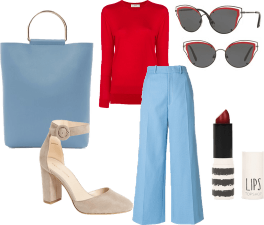 red and blue trend