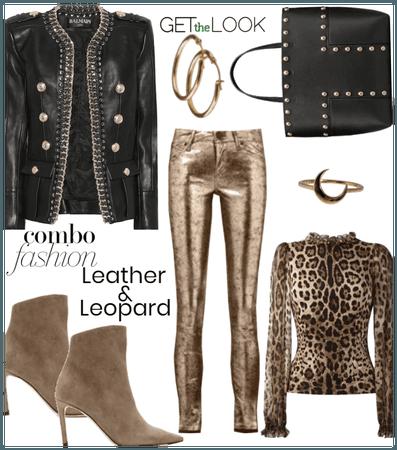 Leather & Leopard Print