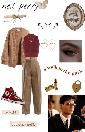 dead poets society characters as outfits in my style: neil perry 1🖤