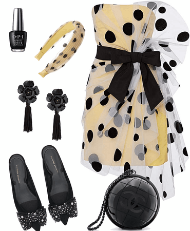 tulle and polka dots