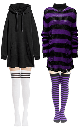 gothic hoodie/sweater dress