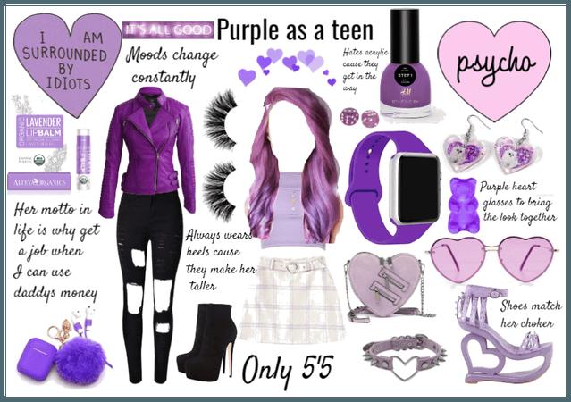 Purple as a teen