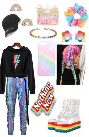 rainbow flair