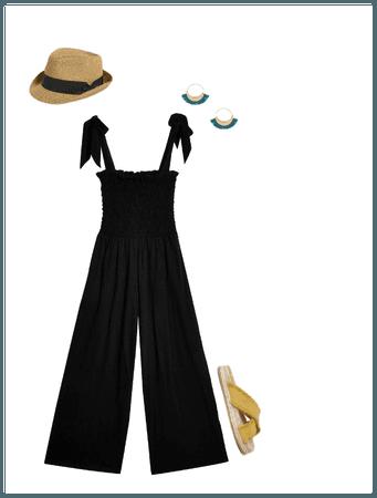 Summer Black Jumpsuit
