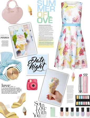 Ice cream date nite/pretty pastels/summer fashions
