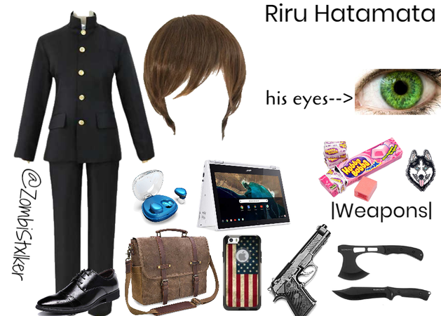 Shadow Hunter Oc: Riru Hatamata's school uniform (human)