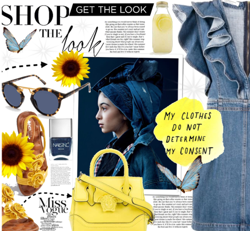 Denim, Yellow And Blue.