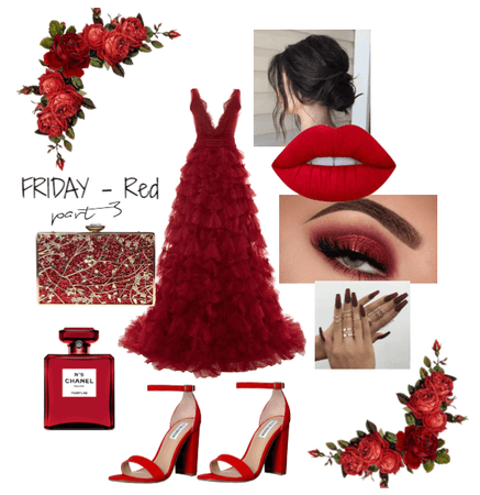 Award Night // Monochromatic outfit - RED prt3