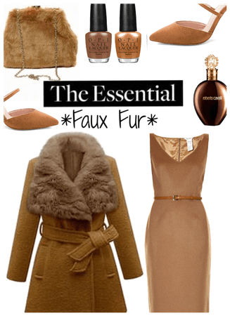 Faux Fur! Coat and Bag