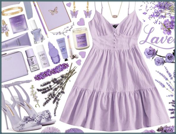 Spring pastel purple