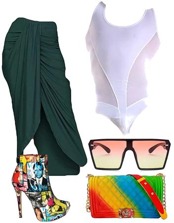 Genderless Gender-fluid outfit look