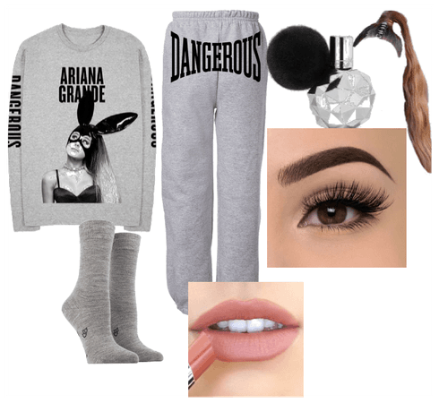 Ariana grande stay home/ weekend outfit
