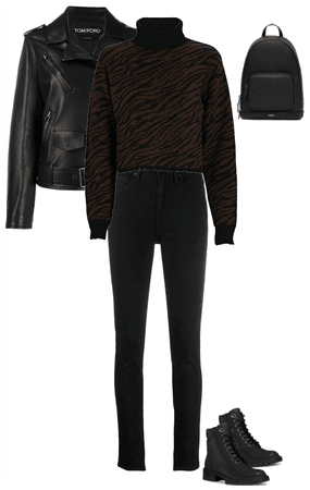 Black fall outfit