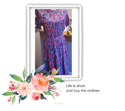 Simple floral chic dress