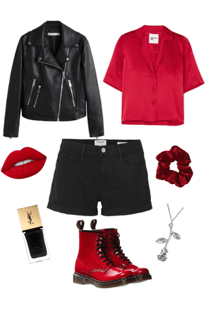 red and black aesthetic