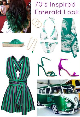 70's Inspired Emerald Look