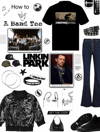 how to rock a band tee/ linkin park