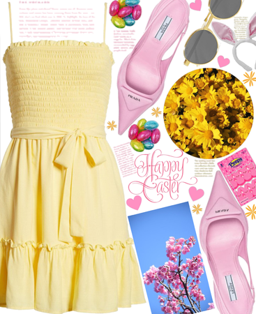 Easter in Pink and Yellow