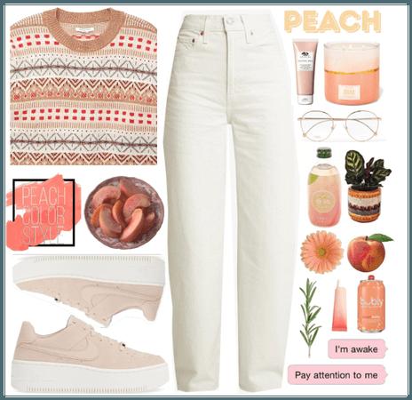 We love peach color
