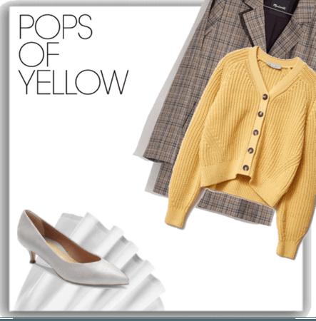 Fall Blazers Challenge - Gray + Yellow