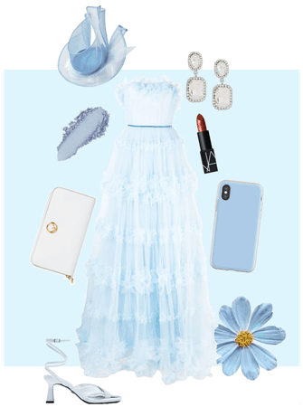 Light blue sandal heel