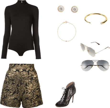 Black and gold outfit