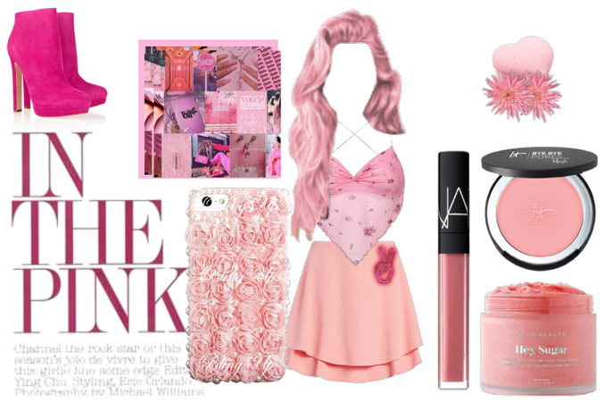 pink outft