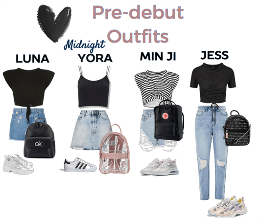 Pre-debut outfit (midnight)