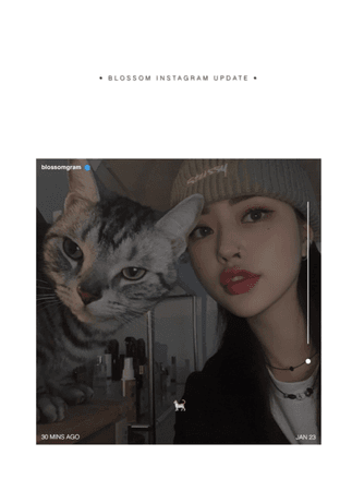 BLOSSOM ( 벨옸옴 ) CHAEYOUNG Instagram Update