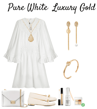 Pure White and Luxury Gold Jewelry
