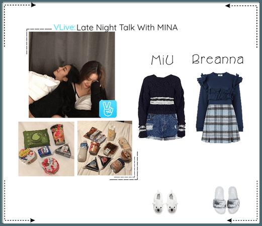 《6mix》VApp Livestream - MiU & Breanna