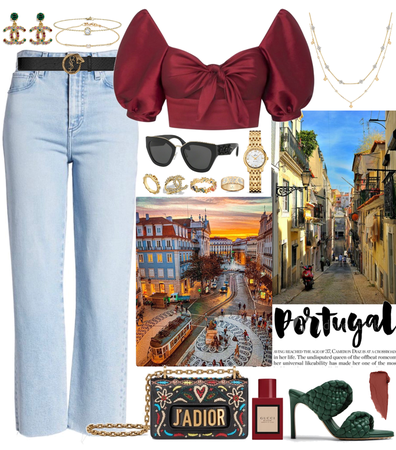 an outfit for a day in lisbon, portugal