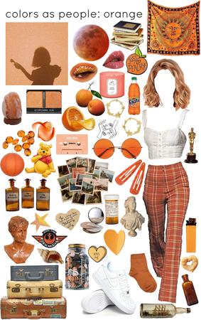people as colors: orange