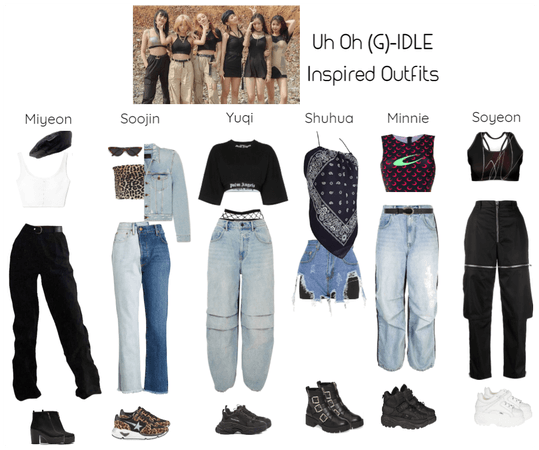 Uh Oh (G)-IDLE Inspired Outfits