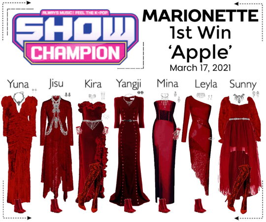 마리오네트 (MARIONETTE) - [SHOW CHAMPION] 'Apple' 1st Win