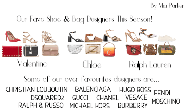 Our fave shoes & bag designers this season!